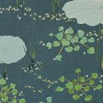 水草 ーリネン・ビーズ・染和紙・紬糸・刺繍糸 ー
