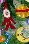 クリスマスカード 『ツリー』・『ケーキ』・『ブーツ』 イラスト