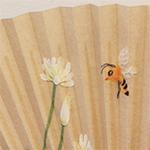 コラージュ   クローバーと蜜蜂