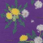 タンポポ 綿毛  ーリネン・染和紙・刺繍糸・麻糸・紬糸 ー