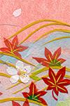 和風エアーメールカード『桜と流水』用イラスト