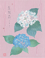 レターパッド・封筒(一筆箋・はがき)     紫陽花のとき