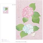 Post Card   紫陽花と蝶