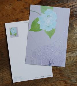 紫陽花と蜘蛛の巣