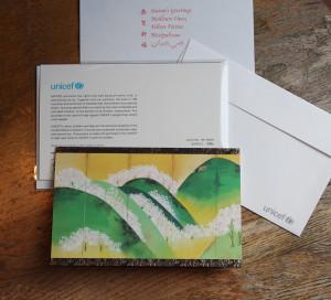 グリーティンカード『吉野山図屏風 - 模写 - 』