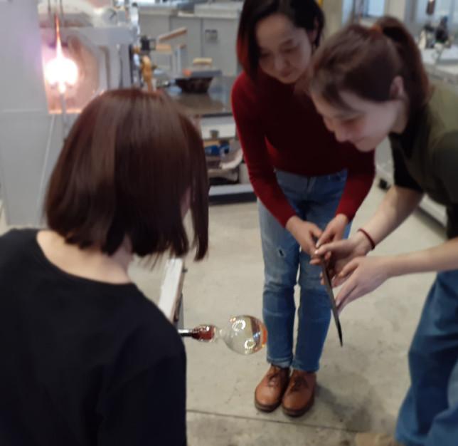 2020.2.16 @富山ガラス工房 吹き硝子体験
